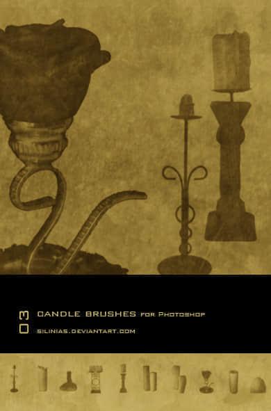 古时候的蜡烛台Photoshop笔刷