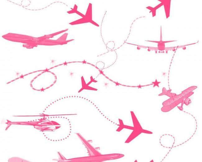 飞机图案装饰Photoshop笔刷素材