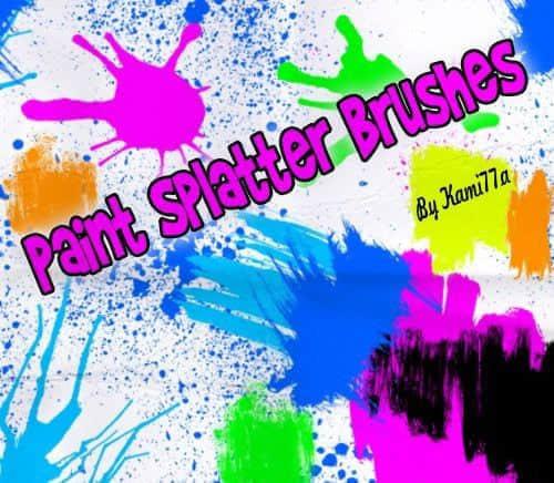 随意油漆喷溅涂鸦效果Photoshop笔刷素材