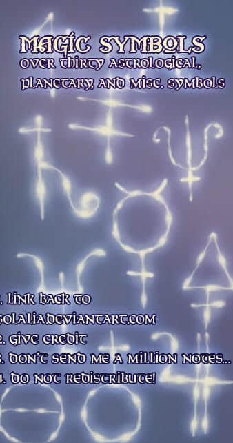 古老神秘的星座光影符号Photoshop笔刷