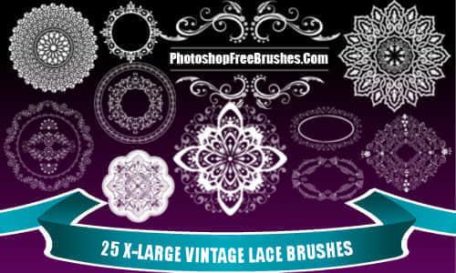 漂亮华丽的欧式经典花纹图案Photoshop笔刷素材