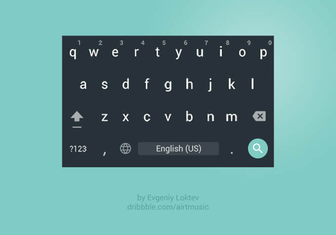 安卓手机APP输入法键盘UI素材PSD文件下载