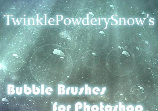 真实的泡泡、气泡、水泡Photoshop笔刷素材