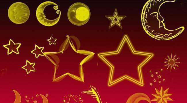 可爱卡通星星月亮Photoshop笔刷下载