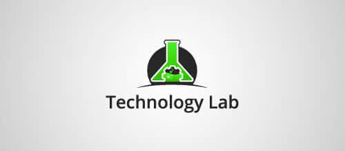 40个试管、烧杯等实验元素主题logo标志设计方案