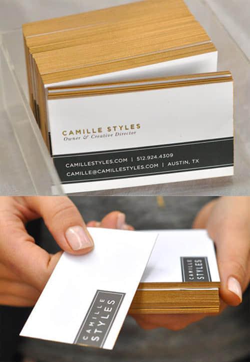 25+富贵靓丽的烫金纹名片样式设计方案参考