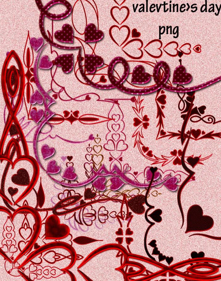 情人节爱心边框花纹美图秀秀装扮素材下载