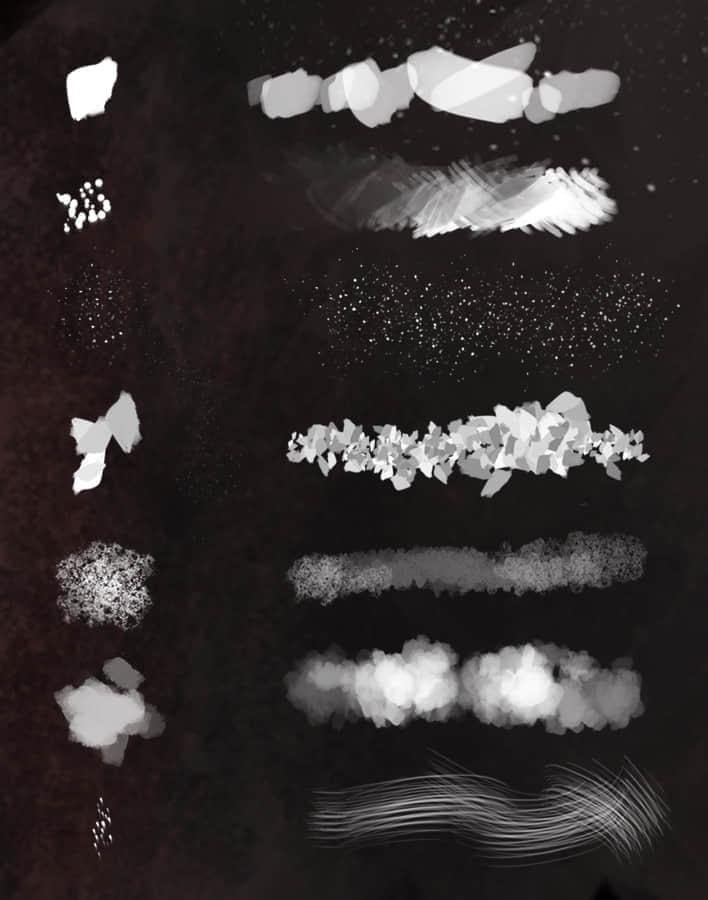 7种CG绘画创作PS笔刷