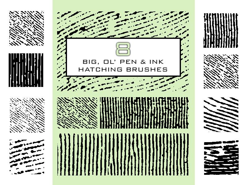 指纹、掌纹纹理状PS笔刷素材下载
