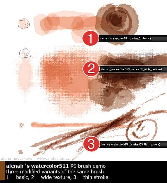 简单麻布纹理式水彩PS笔刷