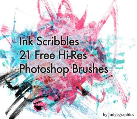 21种免费的刷子涂抹效果Photoshop笔刷