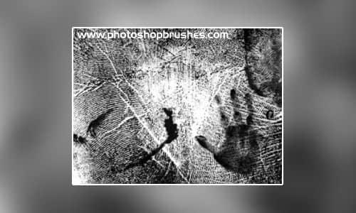 手掌印、指纹痕迹Photoshop笔刷