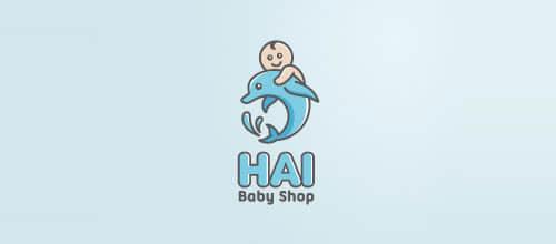 71个动物性海豚造型logo标志设计合集