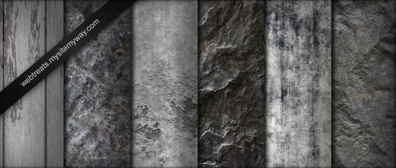 岩石、石壁、石材纹理Photoshop填充图案底纹素材 Patterns 下载