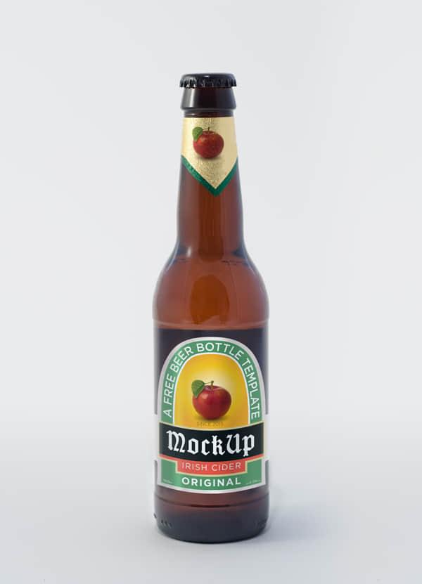 精美的啤酒瓶PSD分层图形素材下载