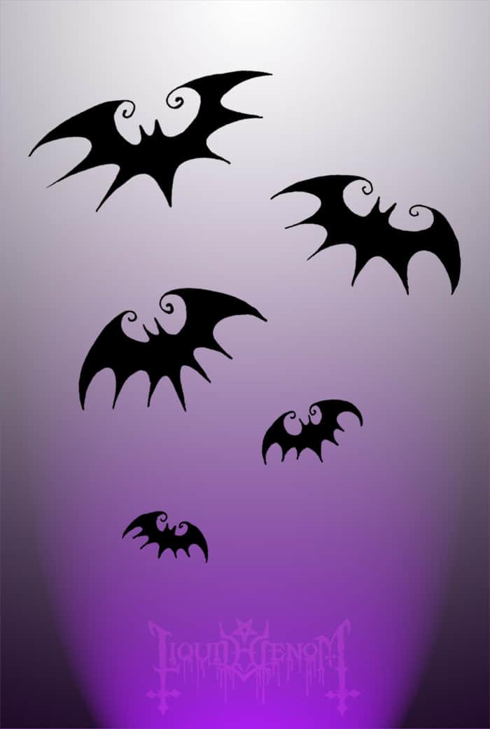小巧卡通蝙蝠图案Photoshop笔刷素材