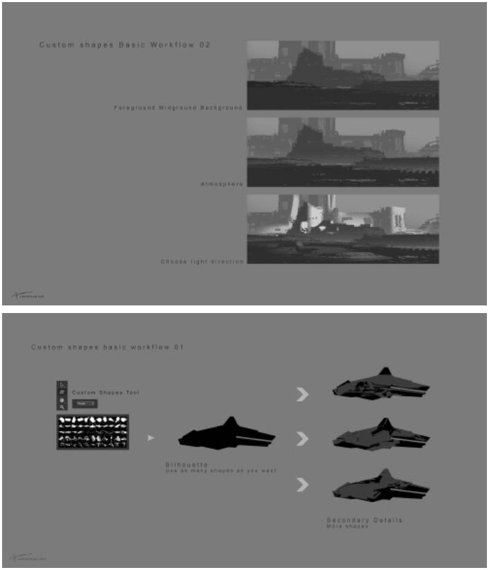 CG组合式绘画photoshop自定义形状素材 .csh 下载