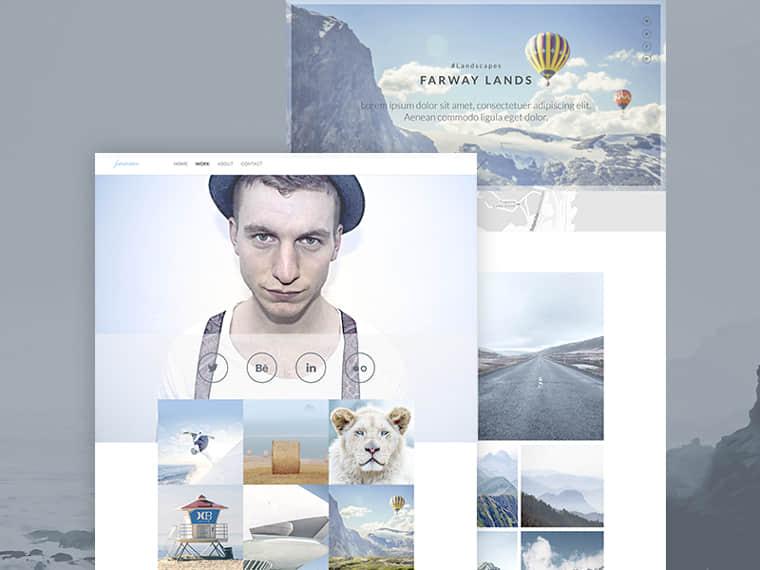 小清新式摄影主题风格PSD模版素材下载