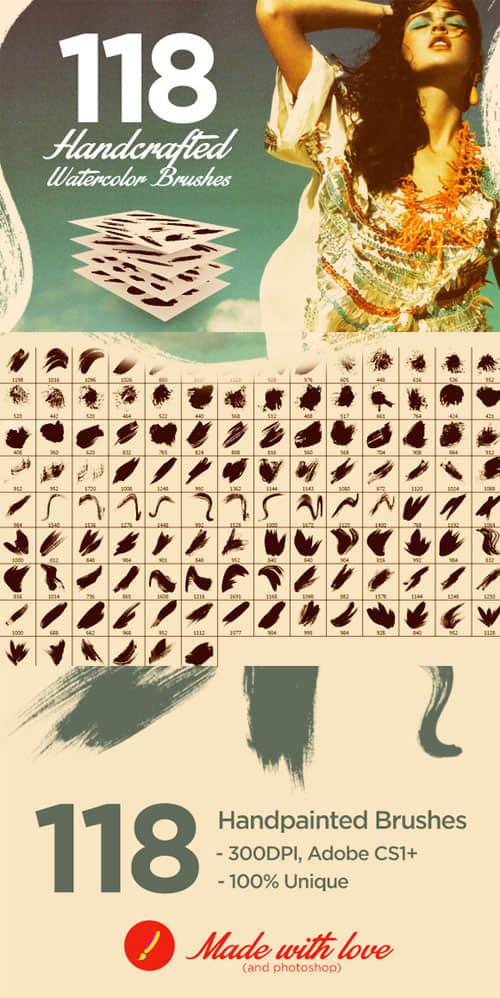 118种刷子涂抹、划痕组合套装Photoshop笔刷下载