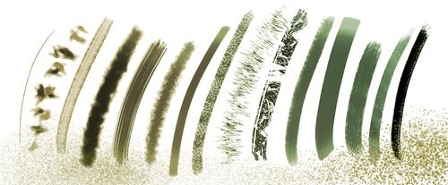 草木、叶子Photoshop植物渲染笔刷
