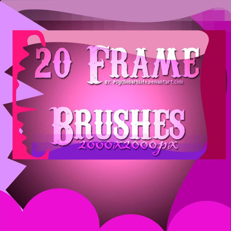 20种矢量边框效果图形Photoshop照片装饰笔刷