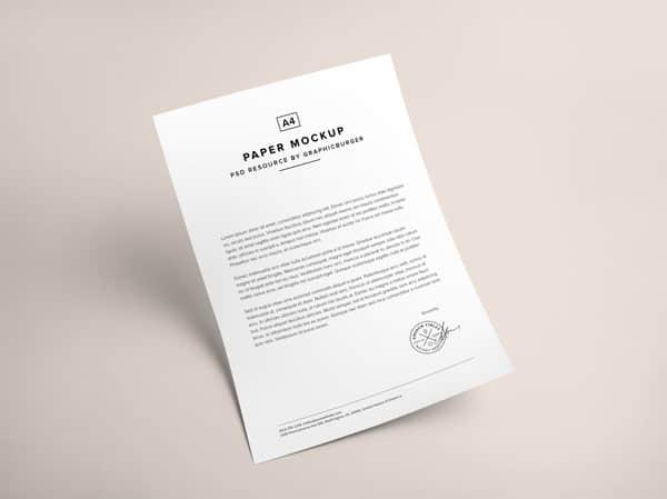A4纸签约证明涵PSD素材下载