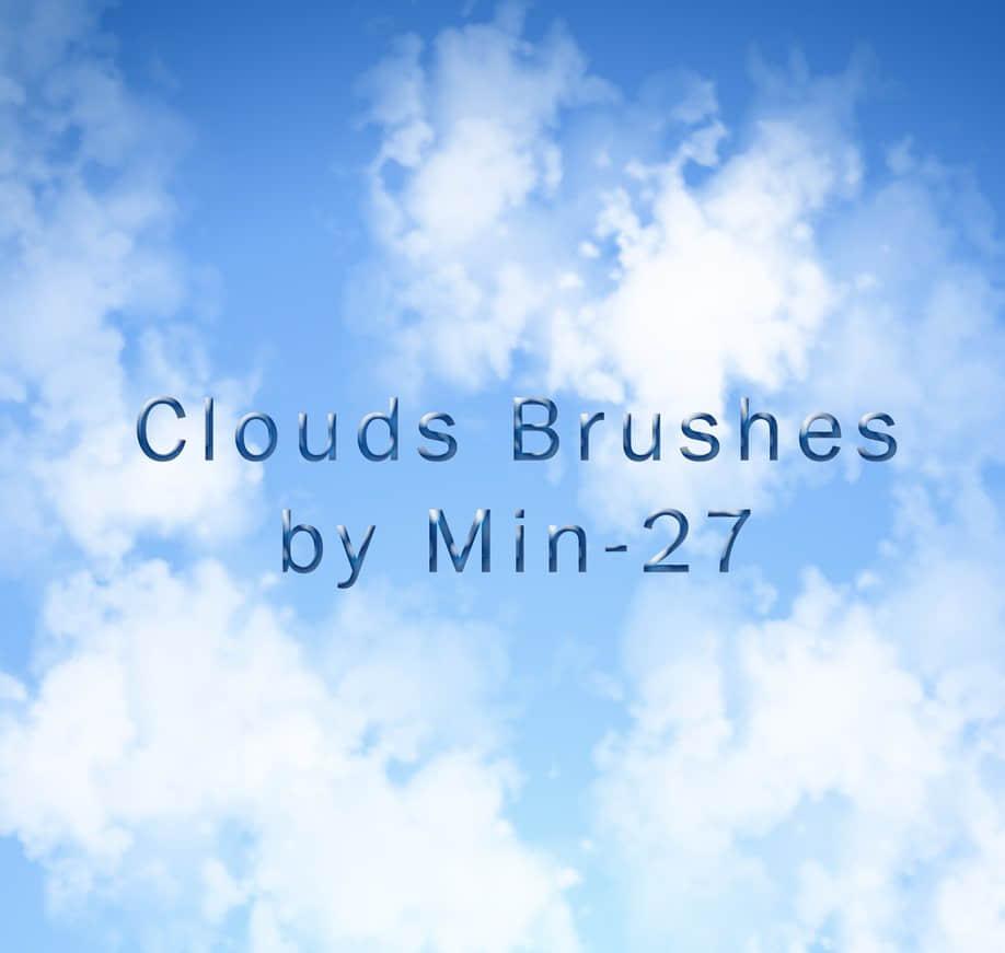 简单的云彩绘图PS笔刷