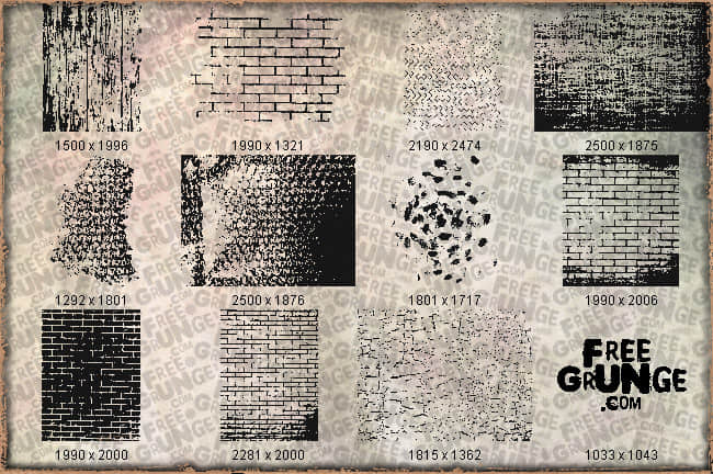 墙壁砖头纹理图形Photoshop笔刷素材 墙砖笔刷 墙壁纹理笔刷  %e5%a2%99%e5%a3%81%e4%b8%8e%e5%9c%b0%e9%9d%a2%e7%ac%94%e5%88%b7