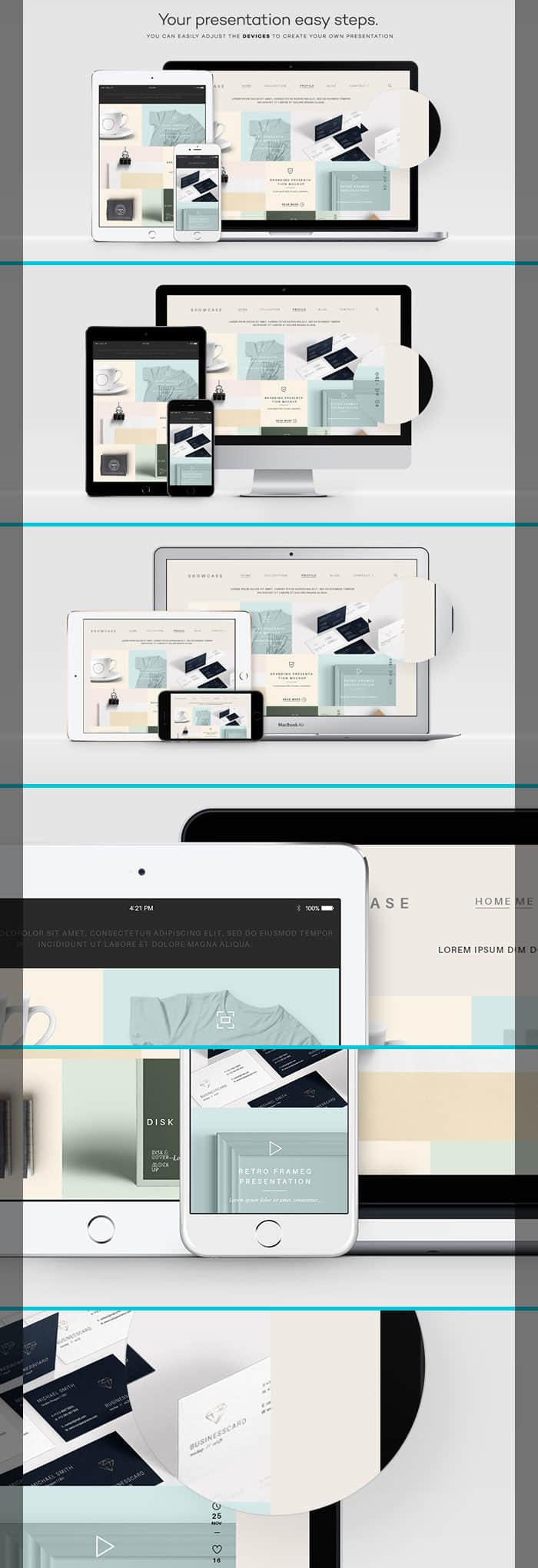 漂亮的图片、照片展示自适应风格的PSD网站模版下载