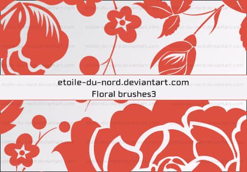 玫瑰花花纹、印花图案矢量形状Photoshop笔刷 玫瑰花笔刷 植物花纹笔刷 印花笔刷  flowers brushes