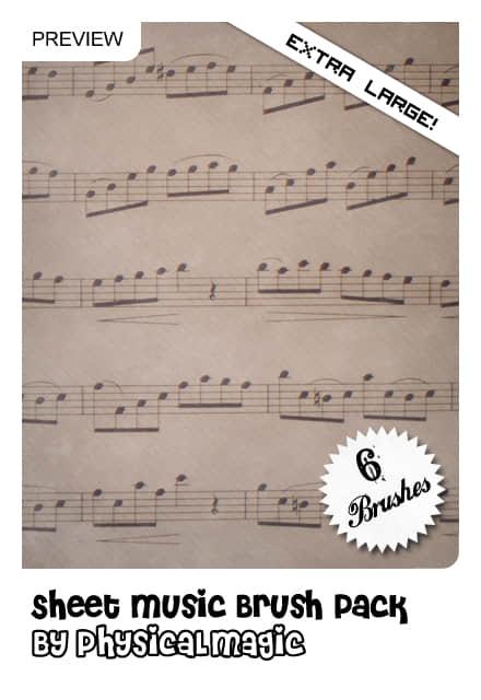 乐谱、五线谱Photoshop音乐元素笔刷