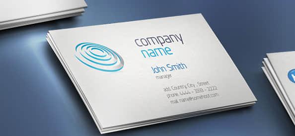简洁科技公司PSD名片模版设计素材