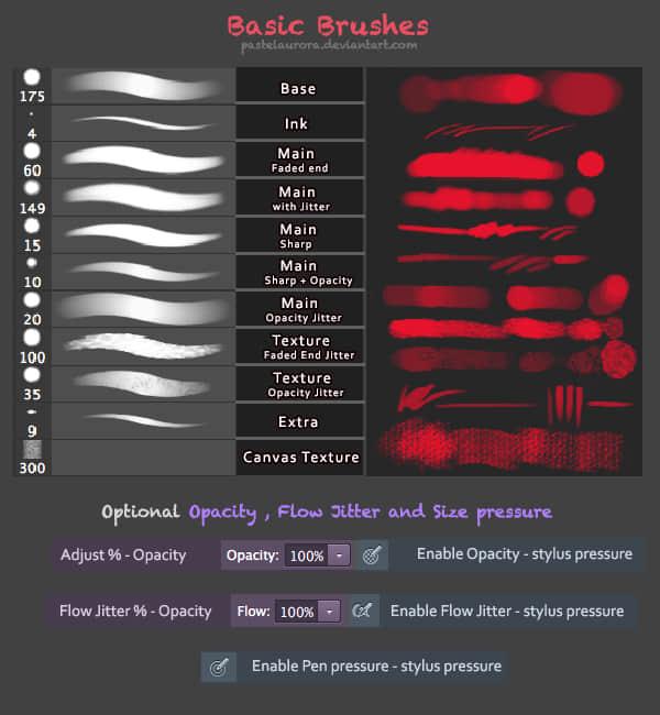 CG艺术绘画创作Photoshop笔刷素材(含.TPL工具预设)下载