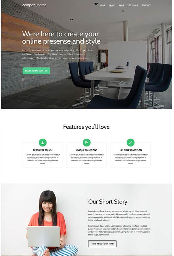 免费PSD商业网站模板素材下载