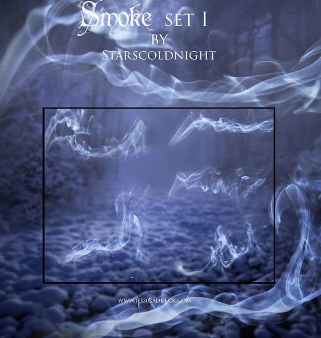 香烟烟雾效果、青烟Photoshop烟尘笔刷