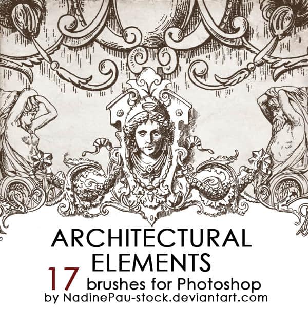 大理石雕塑卡通图案Photoshop古希腊元素笔刷