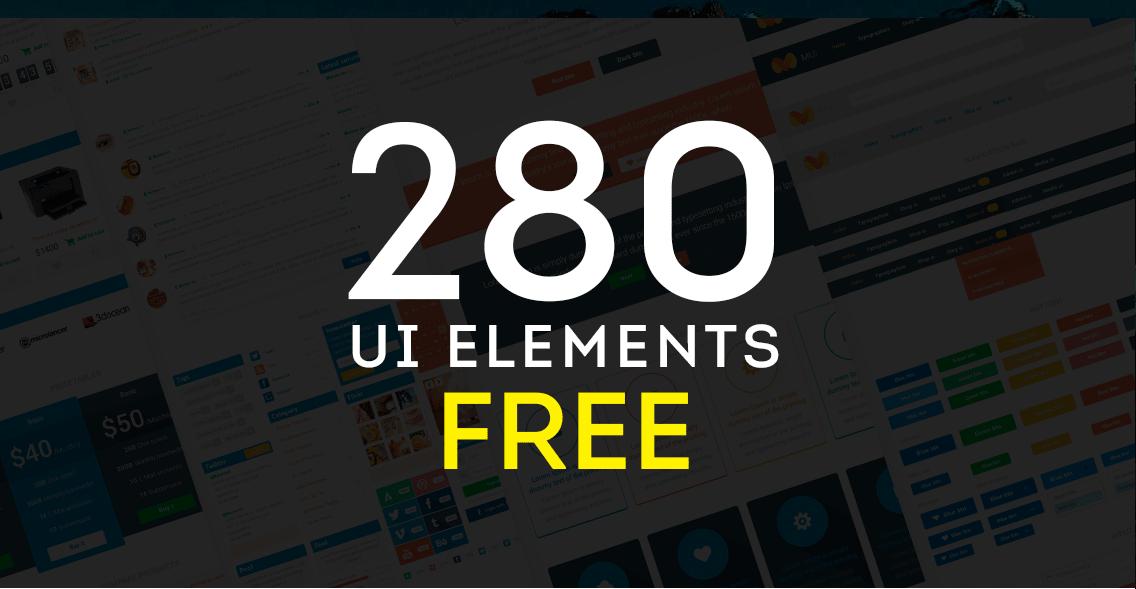 280种web UI相关素材PSD打包下载