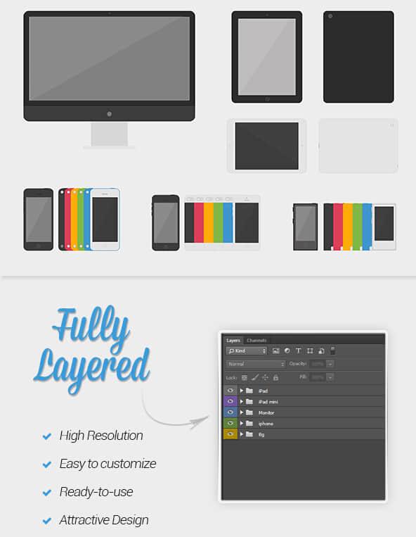 Apple设备PSD图形素材