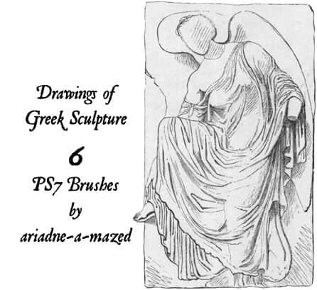 手绘雕塑效果Photoshop希腊元素笔刷