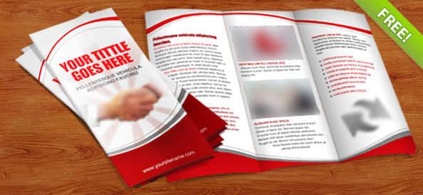 企业宣传三折页PSD模版素材