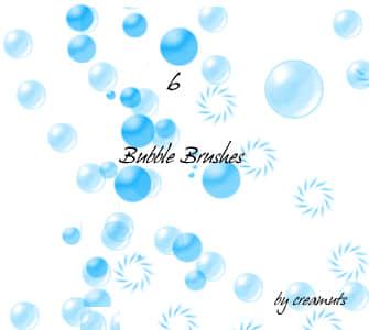 小型泡泡、气泡Photoshop笔刷素材