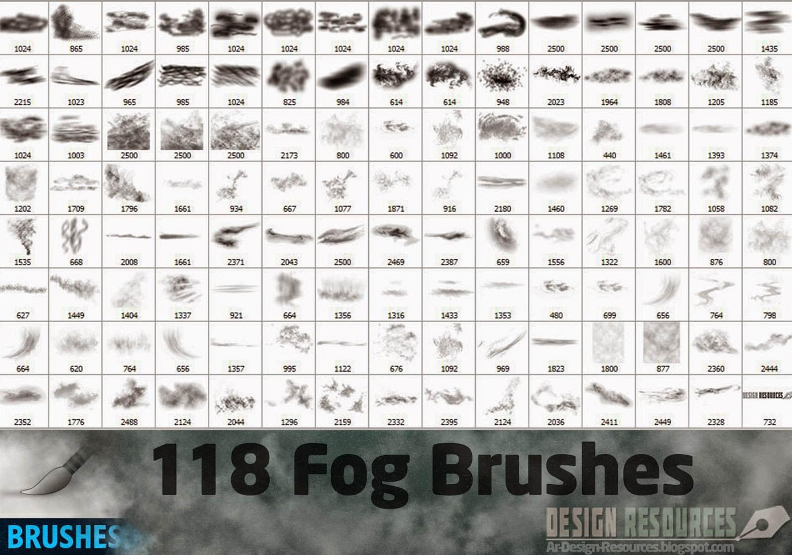 水雾、雾气、浓雾、气雾、水蒸气PS笔刷素材