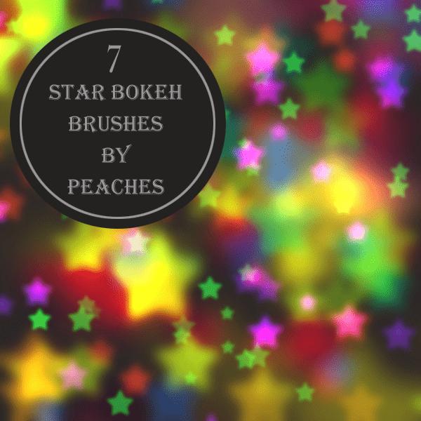梦幻星星装饰、梦幻场景PS笔刷素材 梦幻场景笔刷 星星笔刷  background brushes