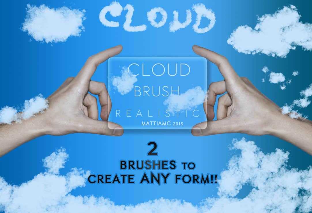 自由组合式云朵、云彩Photoshop笔刷 白云笔刷 云彩笔刷  cloud brushes