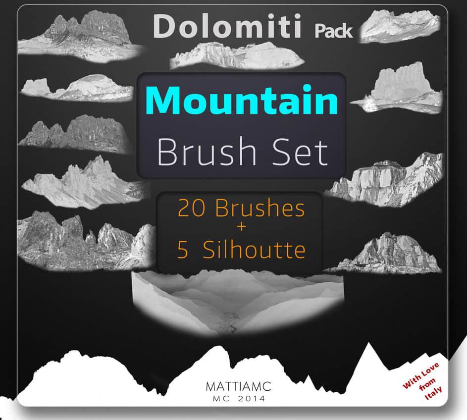 冰山、雪山、山脉、大山Photoshop山笔刷