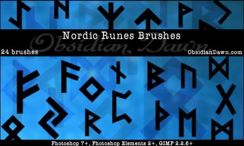 神秘北欧符文、卢恩文、符号Photoshop笔刷