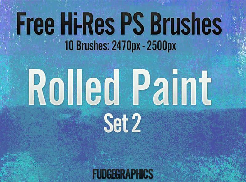油漆滚过纹理效果Photoshop笔刷 #.2