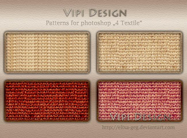 4种针织物样式Photoshop填充图案底纹素材 Patterns 下载