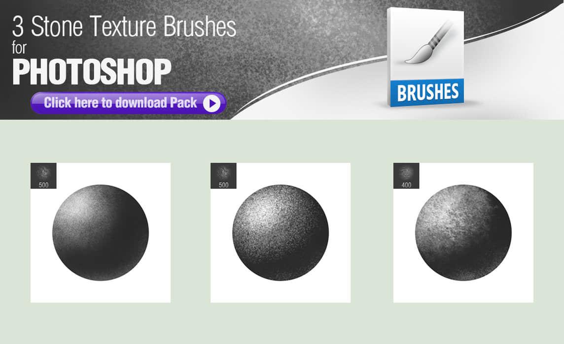 3种石材纹理、石头材质素材PS笔刷下载