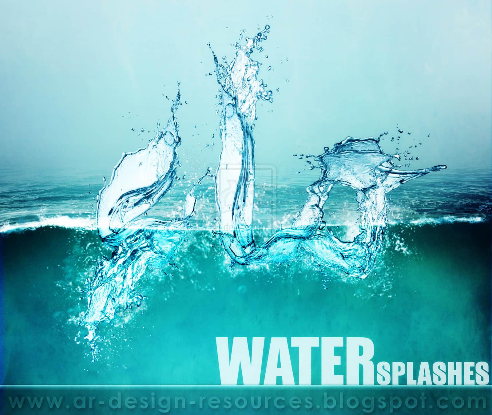 超清水流、激流、水花、液体PS笔刷